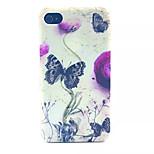 patrón de mariposas pc esmerilada transparente de la contraportada para el iphone 4 / 4s