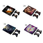 folie som klistres på vinyl klistremerke dekning for PS3 Slim + 2 kontrollere