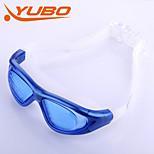 yobo unisex anti-fog / tamanho ajustável / anti-uv / anti-derrapante azul óculos de natação