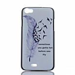 Burning Feathers Pattern PC Phone Case For Wiko LENNY