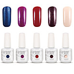 Gelpolish Nail Art Soak Off UV Nail Gel Polish Color Gel Manicure Kit 5 Colors Set S138