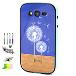 Dandelion Pattern Combo Material Phone Case And Support Dust Plug Stylus Pen  for Samsung Galaxy Grand Neo I9060