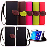 Deluxe Litchi Leaves Wallet Leather Flip Tpu Case For Sony Xperia Z4 Wallet Handbag + Lanyard