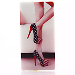 High-Heeled Shoes Pattern Material TPU Soft Phone Case for Sony Xperia M2