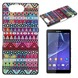 Striped Triangle Pattern Painted PC Material Phone Case for Sony Z3 Mini