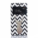 Golden Deer Pattern Painted Material Quality PU Leather for Sony Z4