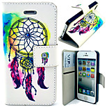Beautiful Windbell Pattern with Card Bag Full Body Case for iPhone 5/5S
