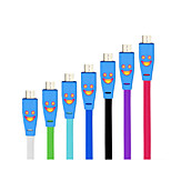 1m usb 2.0 macho a macho micro usb 2.0 cable de datos v8 para el teléfono de Samsung del htc android
