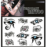 Tattoo Stickers Non Toxic/Pattern/Lower Back/Waterproof Others Adult/Teen Black Paper 1 17*16 Eye