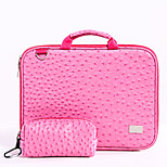 Pink PU Laptop Bag for Macbook under 11