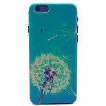 Blue Dandelion Pattern Plastic Hard Cover for iPhone 6