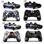 2PCS Sony PlayStation 4 Controllers Protective Vinyl Skins Decals Cover