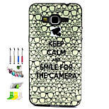 Eye Pattern Combo Material Phone Case And Support Dust Plug Stylus Pen for Samsung Galaxy Grand Prime G530H