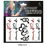 Tattoo Stickers Non Toxic/Pattern/Lower Back/Waterproof Others Adult/Teen Red Paper 1 17*16 ECG