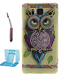 Owl   Pattern TPU Phone Case  for Samsung Galaxy Alpha/G850