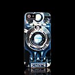 patrón de la cámara cubierta dura para el iphone 5 caso para el iphone 5 s