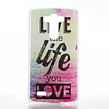 Love Life Pattern Transparent Frosted PC Material  Phone Case for LG G3