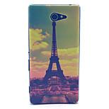 Paris Tour de eiffer ordinateur pc matériau dur cas de téléphone pour sony xperia m2 S50H D2303 d2305