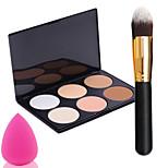 Pro Party 6 Colors Face Bronzing Powder Makeup Palette + Powder Brush+Power Puff