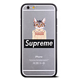 Fashion Skirt Cat Pattern Frame Back Cover for iPhone 6