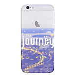 City Landscape Journey Pattern TPU Soft with Screen Protector For iPhone 6