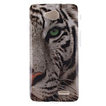 White Tiger Pattern TPU Soft Case for LG 70
