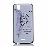 Feather Pattern PC Material Phone Case for Wiko Birdy