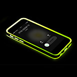 Rock Incoming Call LED Blink Transparent TPU Back Case Cover Upgrade for i5 5s