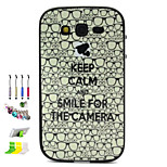 Glasses Pattern Combo Material Phone Case And Support Dust Plug Stylus Pen  for Samsung Galaxy Grand Neo I9060
