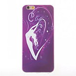 Dancer Pattern Painted TPU Soft Back Cover for iPhone 6