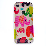 Color Elephant Pattern Painted Slim TPU Material Phone Case for iPhone 6