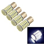YouOKLight® 4pcs BA15S 5W 400lm 127x SMD1206 LED White Car Backup Light / Steering Lamp-(12V)