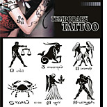 Tattoo Stickers Non Toxic/Pattern/Lower Back/Waterproof Totem Series Adult Black Paper 1 17*16 Constellation