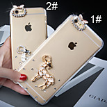 Diamond Shining Transparent Goat and Running Horse Pattern Protective Case for iPhone 6(Assorted Colors)
