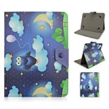 Owl Pattern Magnetic Flip Stand Universal PU Leather Case for 10 Inch Tablet PC