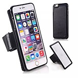 PC Hard Back Case PU Leather with Wristbands for Outsport for Iphone 6