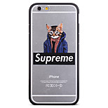 Fashion Sweater Clothes Blindfolded Cat Pattern Frame Back Cover for iPhone 6