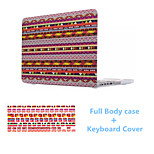 High Quality Colorful Bohemia Pattern PVC Full Body Case Cover and Keyboard Cover for Macbook Retina 13.3 inch