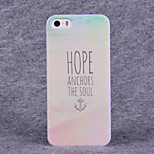 Anchor Pattern Hard Case with Screen Protector Flim for iPhone 5/5S