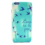 Be Free Pattern Hard Case Cover for iPhone 6 Plus