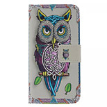 Owl  Pattern PU Leather Phone Case For  HTC One M8 Mini