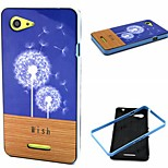 Dandelion Pattern TPU + PC Side Combo Phone Case For Sony Xperia E3