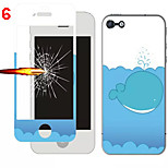 Front and Rear Toughened Cartoon Film for iPhone 6S/6(Assorted Colors)