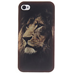 The Lion Face Design TPU Soft Cover for iPhone 4/4S