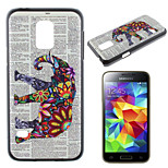 slon vzor pc materiál telefon pouzdro pro Samsung Galaxy S5 mini