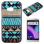 Blue Trim Pattern Painted PC Material Phone Case for HTC M8