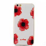 Safflower  Pattern TPU Phone Case For iPhone 6