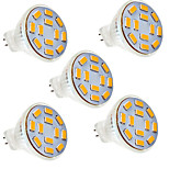5 pcs Ding Yao 5W 12SMD 5730 400-500LM 2800-3500/6000-6500K Warm White/Cool White MR11 Spot Lights AC 12V