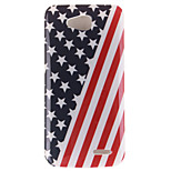 The American Flag Design TPU Soft Case for LG 90