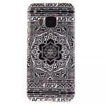 Black Flower Pattern TPU + IMD Phone Case For HTC M9